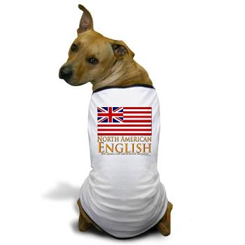 north american english dog tshirt
